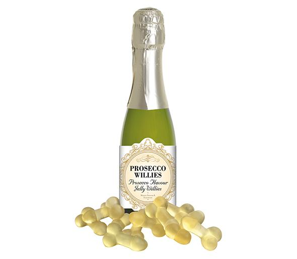 PROSECCO FLAVOURED JELLY WILLIES kummikommid prosecco maitselised