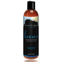 INTIMATE EARTH - MASSAGE OIL HEAVEN HAZELNUT BISCOTTI, biskviit pähklikreemiga massaažiõli, 240ml