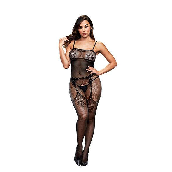 BACI - CROTCHLESS JACQUARD BODYSTOCKING ONE SIZE